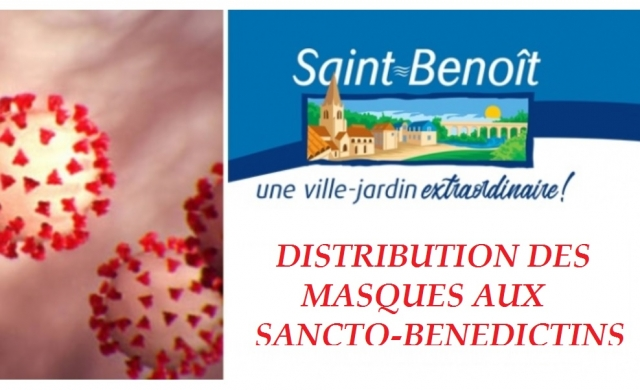 DISTRIBUTION DE MASQUES GRAND PUBLIC AUX SANCTO-BENEDICTINS